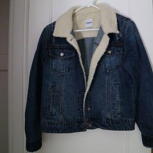Kensie Sherpa Blue Jean Jacket
